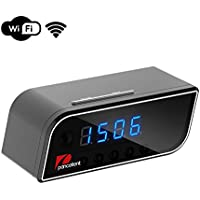 WiFi Hidden Camera Pancellent 720P Clock Camera with Wireless and Motion Detection for Home Security Baby Monitoring