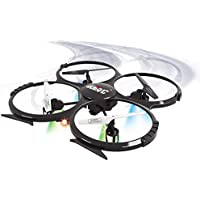 UDI U818A-HD RC Quadcopter Drone 4CH 6-Axis Gyro 2.4Ghz Headless Mode RC Drone with HD Camera 360 Flips One Key Ruturn Home with 4GB SD Card Bonus Battery Black
