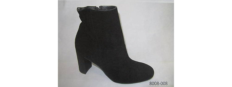 Paul Green 8008-008 Damen Stiefelette aus Veloursleder Gmmizug im Fersenbereich, Groesse 7, schwarz