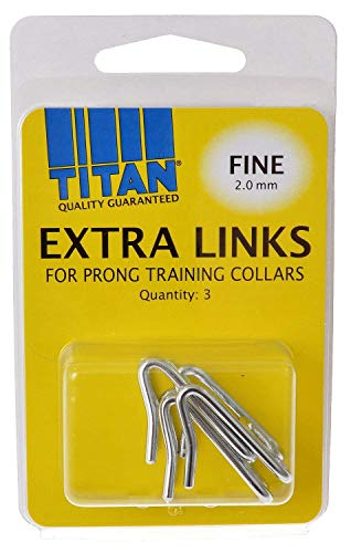 Coastal Pet Chrome-Plated Extra Links for Dog Prong Training Collars | Fine 2.0mm | 3-Count per Pack (1-Pack)