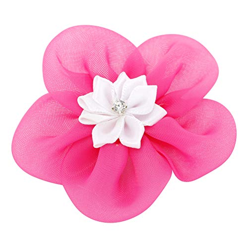 Grosgrain Ribbon Hair Bows Boutique Flowers Clips For Girls Teens Kids Toddlers Set Of 40 by Myamy (Image #5)