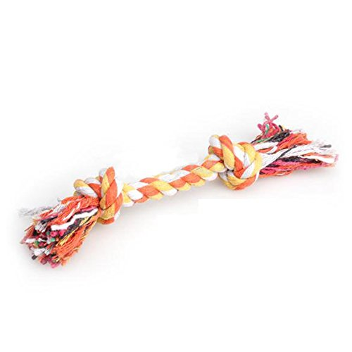 Roto - Fashion Little Cute Pastel Knot Cotton Rope Bone Chew Tug Toy for Pet Doggy