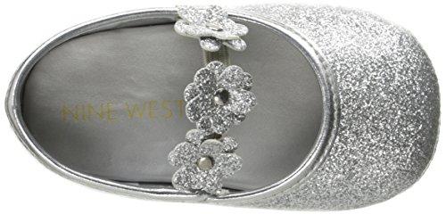 Pictures of Nine West Girls' PHOEBEFLOR Flat Silver 3 Silver 3 M US Infant 2