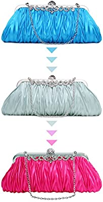 Pulama Romantic Love Bridal Wallet For Wedding Evening Party Bag Purse (two chains, 3 colors)