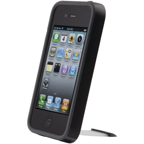 (Speck CandyShell View Phone Case for iPhone 4, Fits Verizon and AT&T Models - 1 Pack  - Batwing Black)