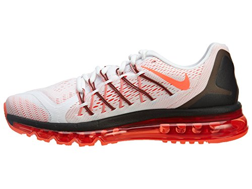 Nike hombre Air Max 2015 running Shoe WHITE/BRIGHT CRIMSON-BLACK