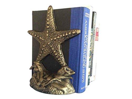Hampton Nautical Cast Iron Starfish Book Ends (Set of 2), 11