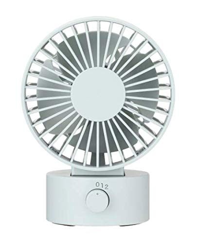 MUJI Low Noise USB Desk Fan, 4'' x 3.1'' x 5.4'' Inch, Blue by MUJI