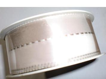 weiß NEU Seidenband mit Draht 40mm x 20m