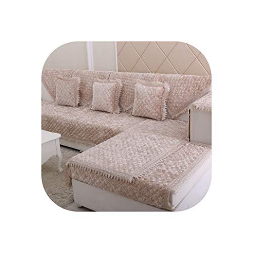 (Lucky Girl-Cloth Slipcover European Diamond Plush Combination Sofa Cushion Sofa Cover High-End Gold Velvet Slip-Proof Sofa Towel Pillow,Red,1Pcs Pillow 45X45 cm)