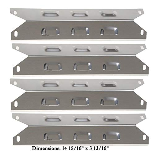 Hisencn BBQ Stainless Burner Tube, Heat Plates Tent Shield, Burner Cover, Adjust Crossover Tube Replacement for BBQ-pro 146.2367631, Kenmore 146.10016510, 146.16198211, 146.16197210 Gas Grill Models by Hisencn (Image #4)