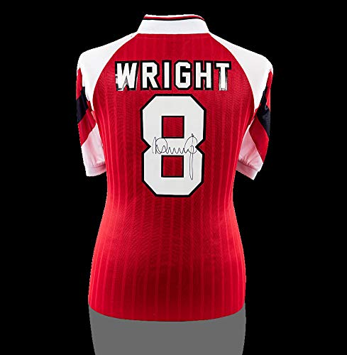 check out 4fad3 71381 Ian Wright Back Autographed Signed Arsenal 1992 Home Shirt ...