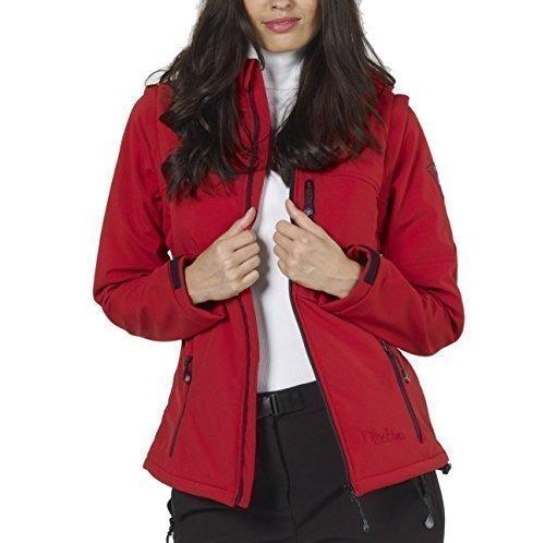 Softshell-Jacke Funktions-Weste für Damen von Fifty Five - Whistler red 50 - mit FIVE-TEX Membrane für Outdoor-Bekleidung
