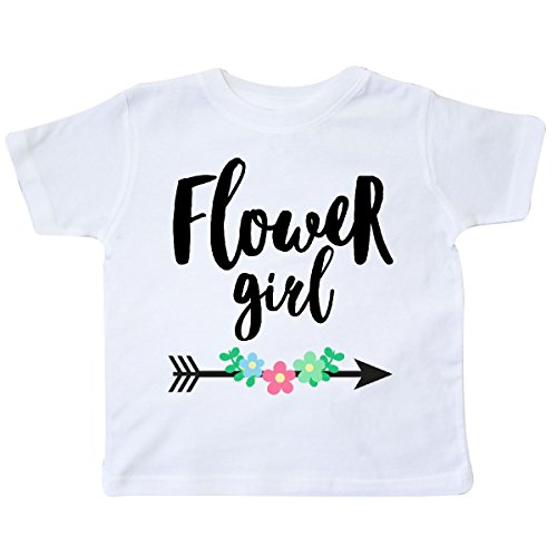 Inktastic - Flower Girl with Arrow and Flowers Toddler T-Shirt 2T White
