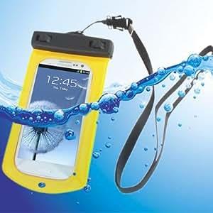 Waterproof Bag con Strap & Armband para Samsung Galaxy SIII i9300, Yellow