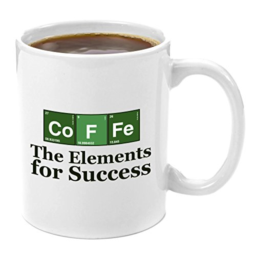 Co-F-Fe-The-Elements-of-Success-Premium-11oz-Coffee-Mug-Perfect-Chemical-Engineering-Gift-Science-Gifts-for-Adults-Math-Teacher-Computer-Nerd-Gifts-Mechanical-Civil-Aerospace-Engineer-Gifts