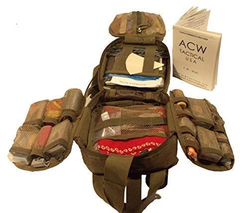 Best & Ultimate EDC Special Utility & Survival Kit ACW Macgyver Bag (Ultimate Fully Loaded Green) by ACW Tactical USA