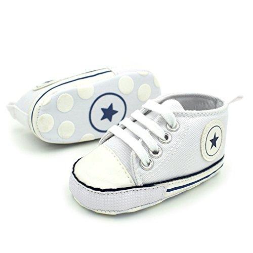 Summens Krabbelschuhe Babyschuhe 0-12Monate,Lauflernschuhe Weichen Sohle Kleinkind Schuhe Weiß