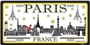 PLAQUE AMERICAINE USA COLLECTION PARIS MONUMENTS FRANCE