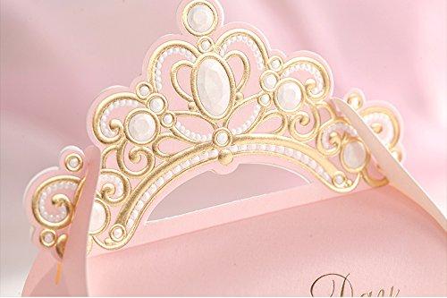 grandi splendidi rosa bridal shower idee favore del bambino della ragazza scatole decorazioni doccia regalo 10 pezzi con corona caramelle o cioccolatini non incluso