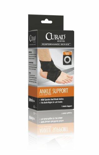 Medline ORT26120MDH Curad ure Eight Elastic Ankle Wrap, Medium, Black