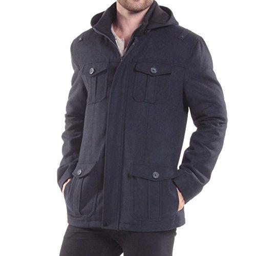 alpine swiss Noah Mens 8 Cargo Military Pocket Zip-Out Hood Coat