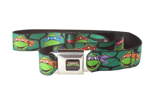 Teenage Mutant Ninja Turtles Shell Faces Seatbelt Belt (Teenage Mutant Ninja Turtle Raphael Adult Mask)