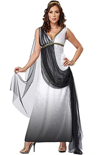 [California Costumes Women's Platium Collection - Deluxe Roman Empress Adult, Black/White, X-Large] (Roman Goddess Xlarge Costumes)