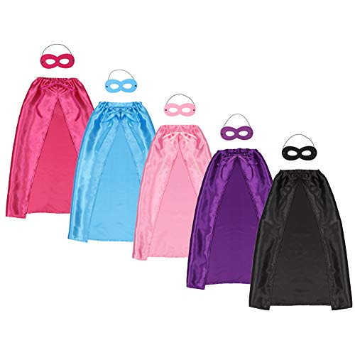 Halloween Children's Superhero Capes and Masks Set Kids DIY Dress Up Costume for Parties - 10pcs(5sets)