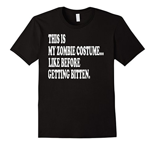 [Mens This is my zombie costume... Halloween T-Shirt, Lazy costume Large Black] (Zombie T Shirt Costume)
