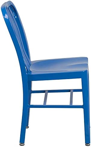 patio, lawn, garden, patio furniture, accessories, patio seating, chairs,  patio dining chairs 10 picture Flash Furniture 2 Pack Blue Metal Indoor-Outdoor promotion