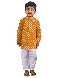 Flawn't Leheria Printed Traditional Cotton Kurta and Pajama Set for toddler boys