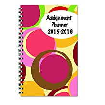 House of Doolittle 2015-2016 Academic Year Ready-to-Go Calendar Planner, Weekly and Monthly, Large Bubble Design Printed Cover, 5 X 8-Inch (HOD274RTG59-16)