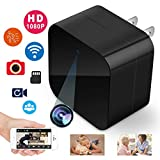 Hidden Camera,Spy Camera Wireless Hidden Camera WiFi 1080P Mini USB Camera Nanny Camera Indoor Security Camera HD Video Recorder Home Nanny Cam Hidden Camera Spy Cam Wall Charger Plug Motion (Black)