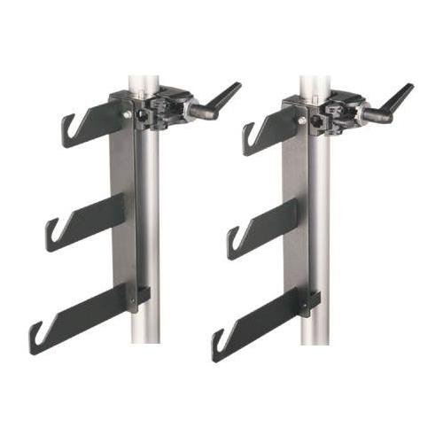 Manfrotto 044 B/P Clamps-2 Holder Hooks 045 Mounted on 2 Superclamps 035