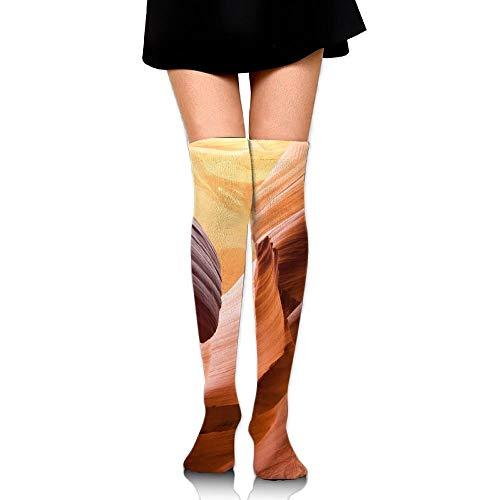 Zuo Hong Antelope Canyon Cave Natural Stone Erosion Print Casual Knee High Socks Fashion Athletic Stockings