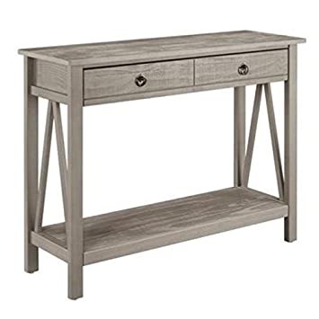 Amazon.com: BOWERY HILL Console Table in Rustic Gray ...