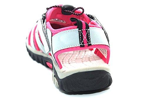 PDQ - Sandalias de vestir de sintético para mujer Multicolor Grey/Fuchsia rosa - rosa