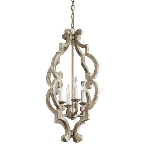 Kichler 43255DAW, Hayman Bay, 4LT Incandescent, Distressed Antique White by Kichler Lighting