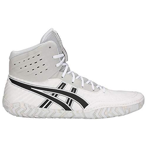 ASICS Aggressor 4 Men's Wrestling Shoes, White/Black, Size 9.5