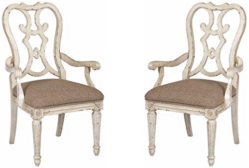 American Drew Southbury Parchment Cortona Arm Chair Set of 2