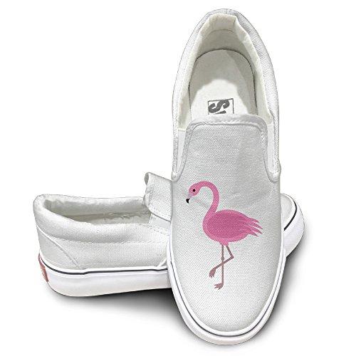 ALIPAPA Custom Men's & Women's Geek Pink Flamingos Mode Shoes White Size 38 by ALIPAPA