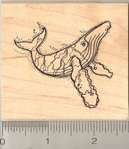 Humpback Whale Rubber Stamp