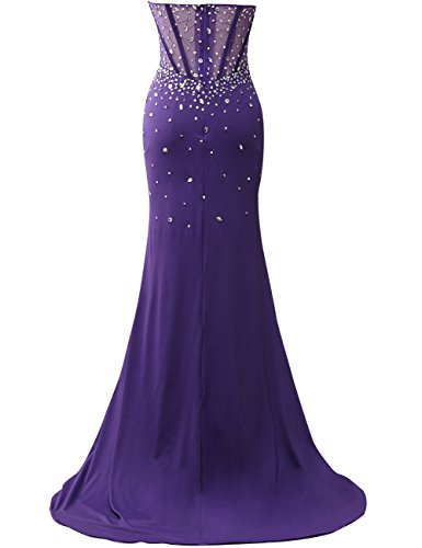 JAEDEN Mermaid Long Evening Dress Strapless Prom Party Gown ...