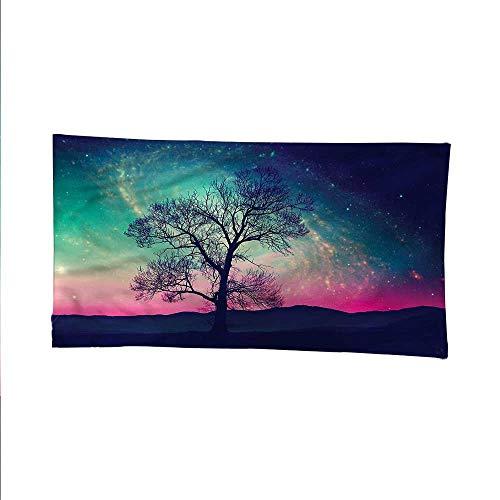 Galaxyspace tapestrywall Hanging tapestryMagical Aurora Borealis 84W x 70L Inch