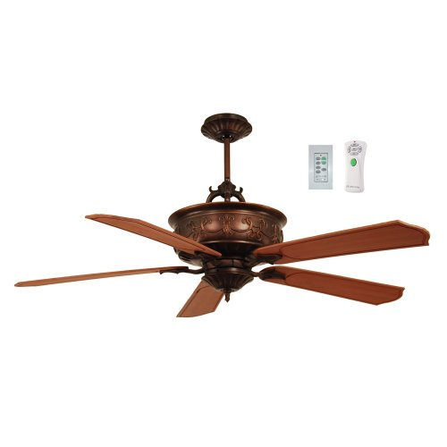 Litex ASF56ABZ5RW Ashfield 56-Inch Five-Blade Ceiling Fan wi