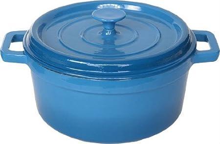 Cosy & Trendy & 957068 Bergerac Blue Saucepan Cast Iron Diameter 28