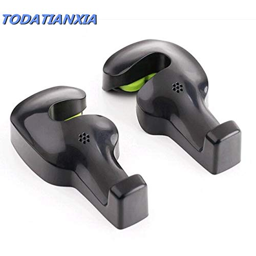 Fastener & Clip Car Seat Hook Hanger Purse Bag for Honda Civic 2006-2011 Volvo v60 Mazda 6 Renault twingo Megane 2 trafic BMW m Accessories - (Color Name: Black) ()