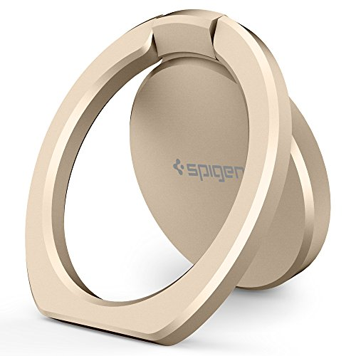 Spigen Style Ring 360 Cell Phone Ring/Phone Grip/Stand/Holder for All Phones and Tablets Compatible with Magnetic Car Mount - Champaign Gold