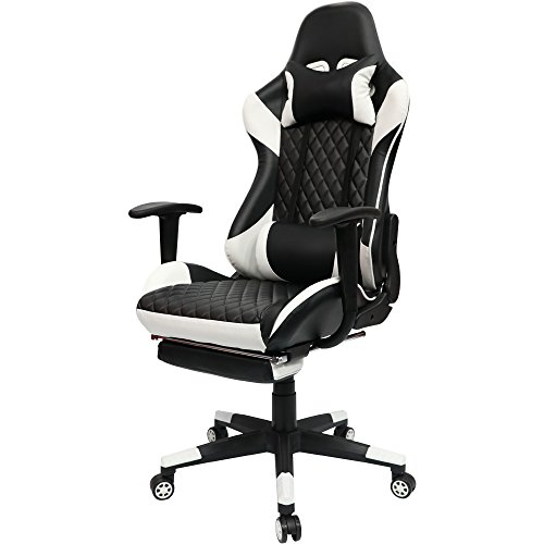 Kinsal Gaming Chair High-back Computer Chair with Footrest,